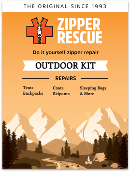 Do-it-yourself zipper repair kitfor outdoor gear and accessories.